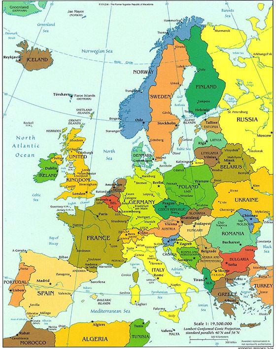 Medjunarodne selidbe Evropa-mapa