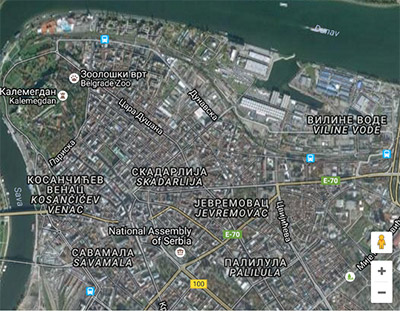 grad beograd mapa Selidbe Stari Grad grad beograd mapa